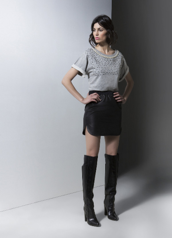 skirt lookbook fashion gat rimon t-shirt