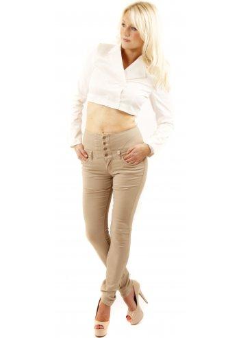 Beige High Waisted Jeans | Women's Beige Jeans | Skinny Beige Jeans