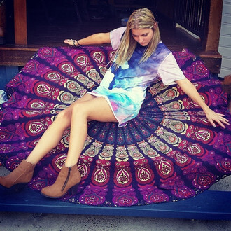 home accessory beach hippie dress tapestry dorm tapestry wall tapestry hippie wall hanging round wall hangings mandala roundies mandala round mandala yoga fashion beach house home decor mandala fabric roundie mandala beautiful colorful red pink fashion toast