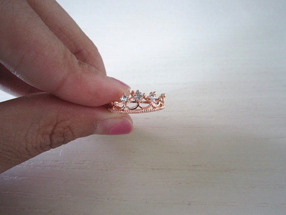 Crown ringrose gold/gold ring in crowni am the best by viviens