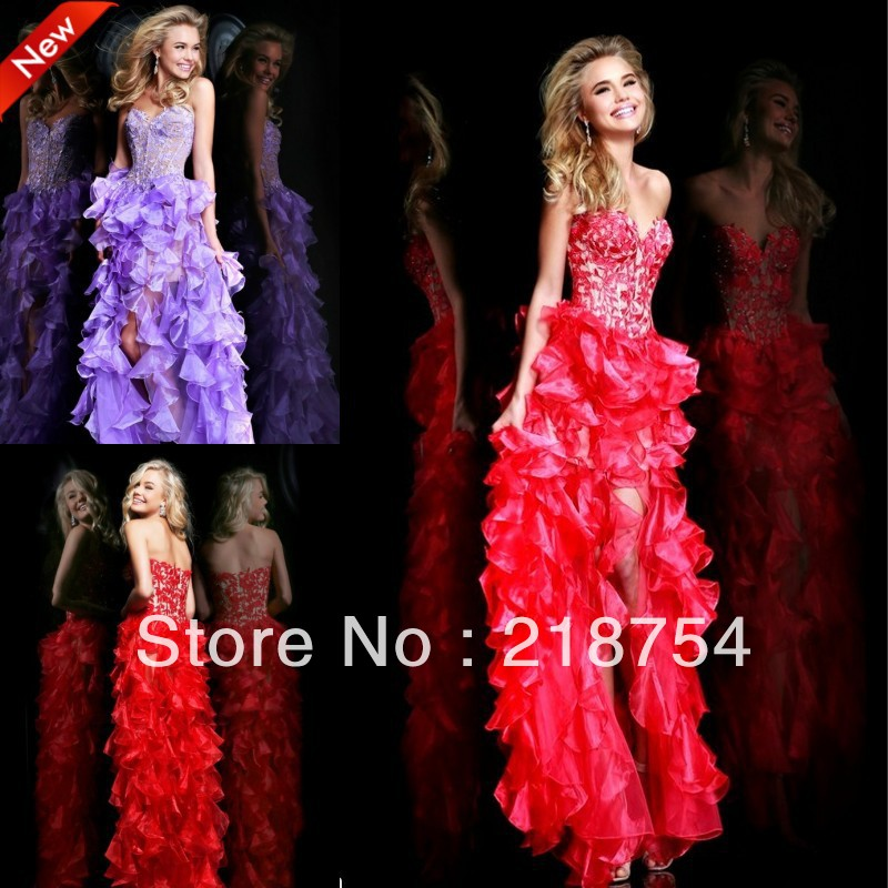 Aliexpress.com : Buy Fashion New Sweetheart Straight Red Organza Lace Appliques Floor Length Prom Dresses Girl Party Gowns 2014 New Arrival from Reliable Prom Dresses suppliers on Lhasa Roland_love