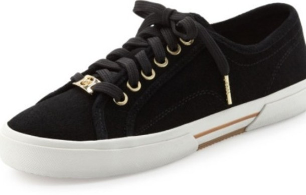 shoes michael kors sneakers black gold wheretoget. Black Bedroom Furniture Sets. Home Design Ideas
