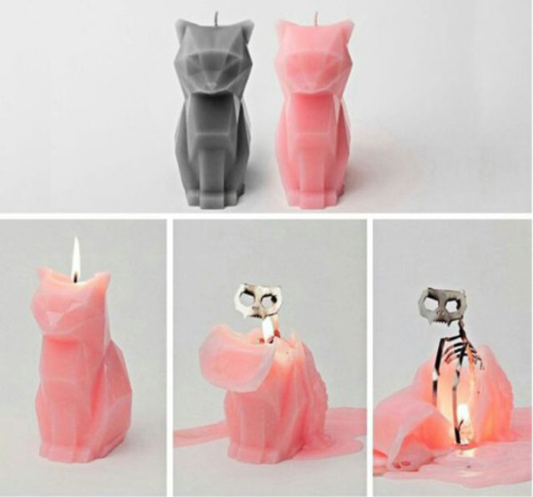 hair accessory cats chat bougie light