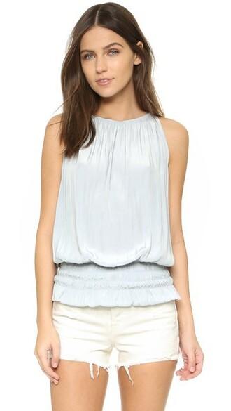 top sleeveless silver