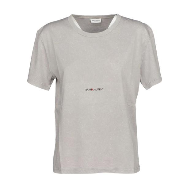 Saint Laurent t-shirt shirt t-shirt white grey top