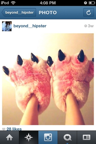 shoes pink house shoes fur pink shoes funny