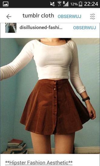 skirt brown button up skirt