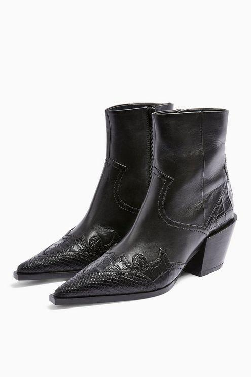 Missouri Leather Western Boots - Black