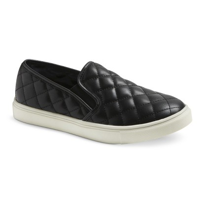 Women's Mossimo Supply Co. Dedra Quilted Slip-on - Black