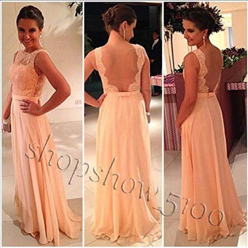 Backless Long Evening Party Ball Prom Gowns Formal Bridesmaids Dresses Custom