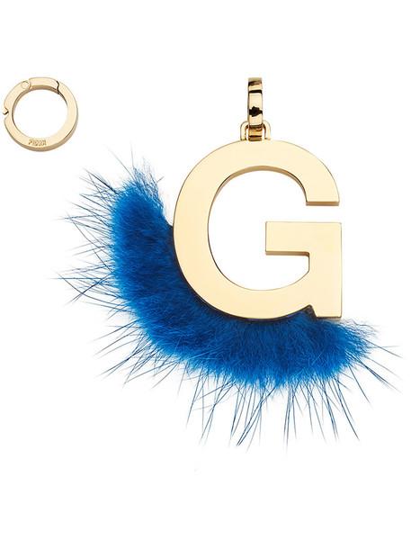 Fendi fur women pendant blue jewels