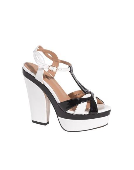 retro shoes white black heels