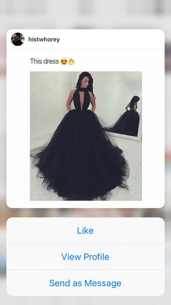 Dress Black Puffy Prom Dress Wheretoget