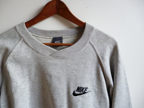 Vintage NOS Nike Sweatshirt with Tags Mens by OldKingstonVintage