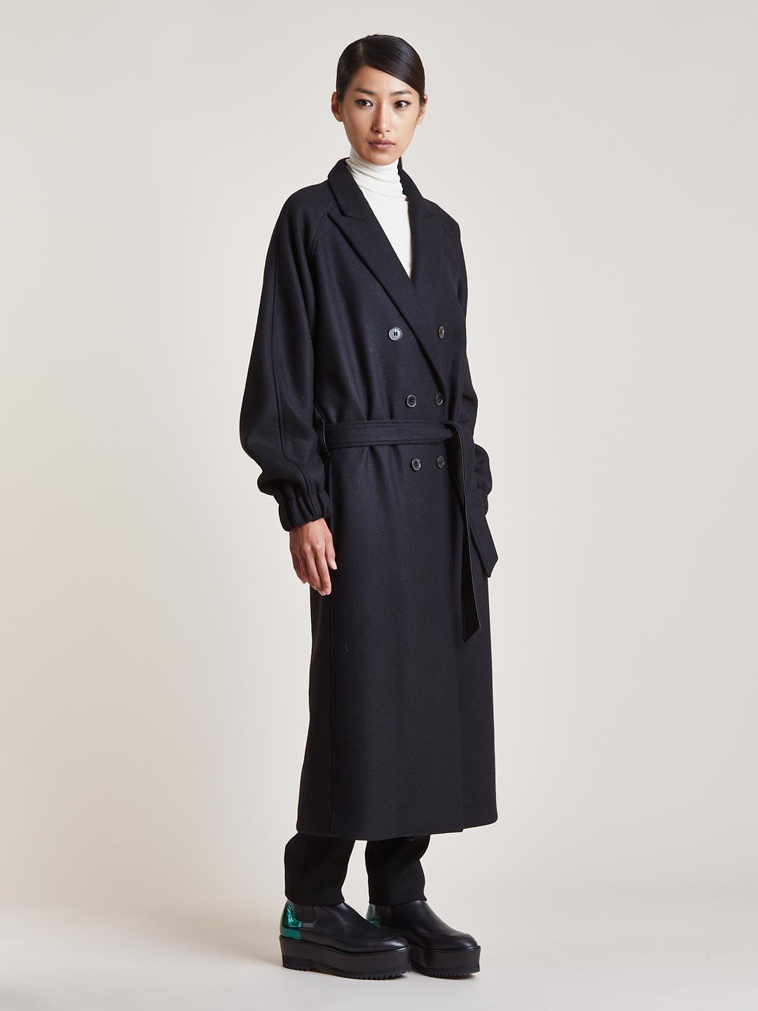 Damir Doma Women's Long Canis Double Breasted Coat | LN-CC