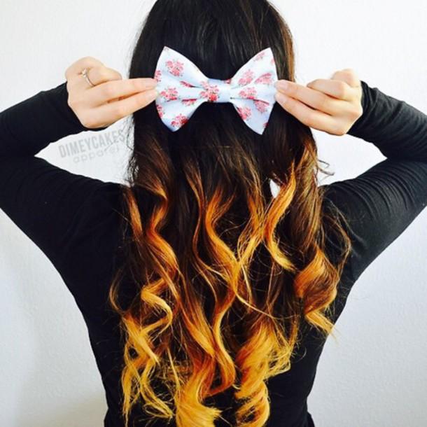 hair accessory brunette girl whitebow highlights bow#gray# white dress