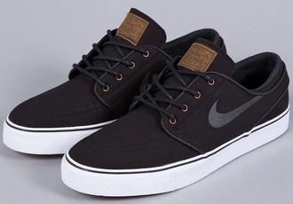 shoes black nike sb nike brown shoes canvas black janoski girl brown blac