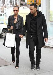 shoes,black high heels,celebrity,chrissy teigen,menswear