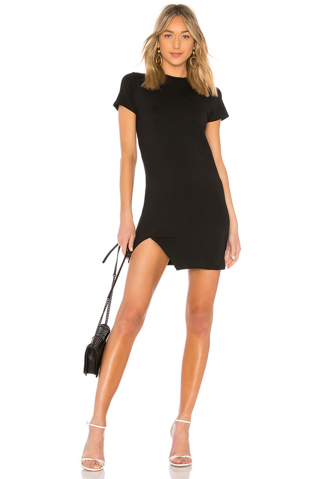 by the way. Destiny Slit Dress in black
