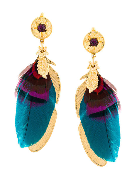 Gas Bijoux metal women earrings gold grey metallic jewels