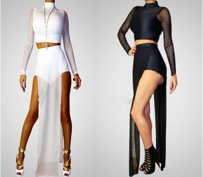 Two piece mesh me · viibrant fashion · online store powered by storenvy