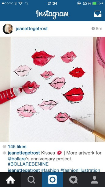 home accessory painting lips artwork