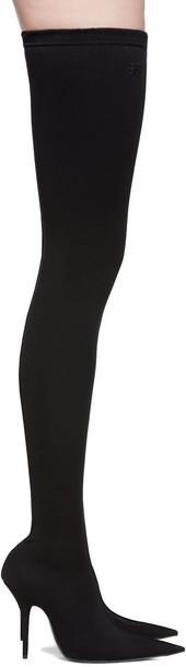 Balenciaga thigh-high boots high black shoes