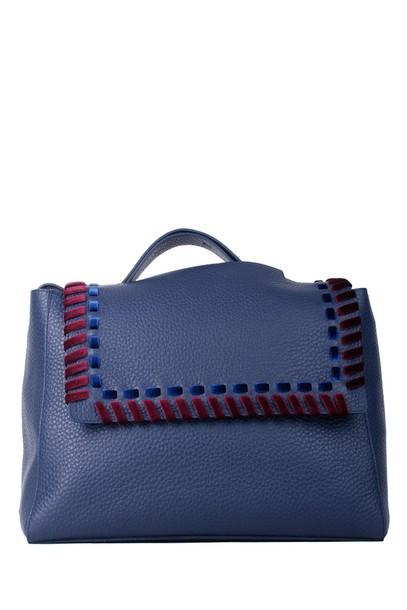 Orciani bag shoulder bag leather navy blue