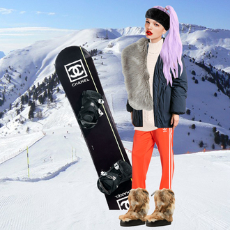 the blonde salad blogger coat hat scarf sunglasses shoes nail polish make-up winter sports ski pants