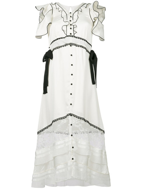 dress midi dress women midi white satin