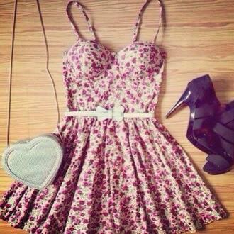 dress flowers bow