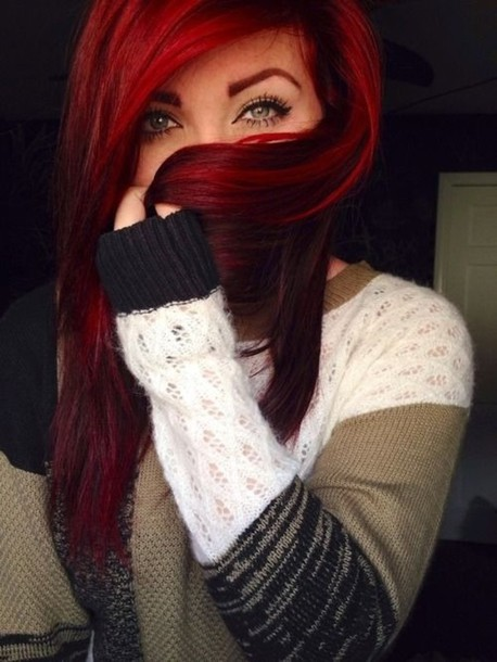 Strange Shirt Sweater Make Up Red Hair Hair Red Head Fall Outfits Short Hairstyles For Black Women Fulllsitofus