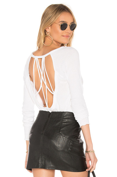 Chaser back strappy white top
