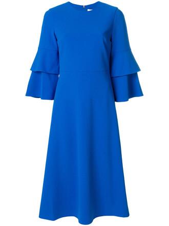 dress midi dress women midi spandex blue
