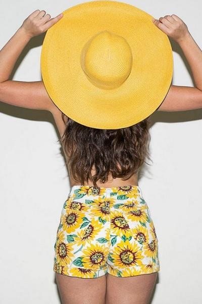 Sun Flower Vintage Shorts - OASAP.com