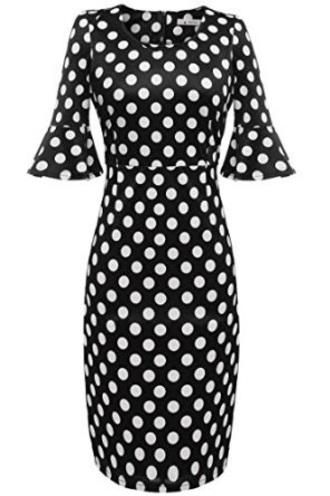 dress polka dots black dress cute dress summer dress bodycon dress vintage cocktail dress summer outfits shear bodycon dresses sexy party dresses sheathh dress pencil dress vintage dress retro dress red dress white dress mini dress office outfits office dress polka dots dress red polka dot dress fashion fashion dress streetstyle casual dress party dress wedding clothes