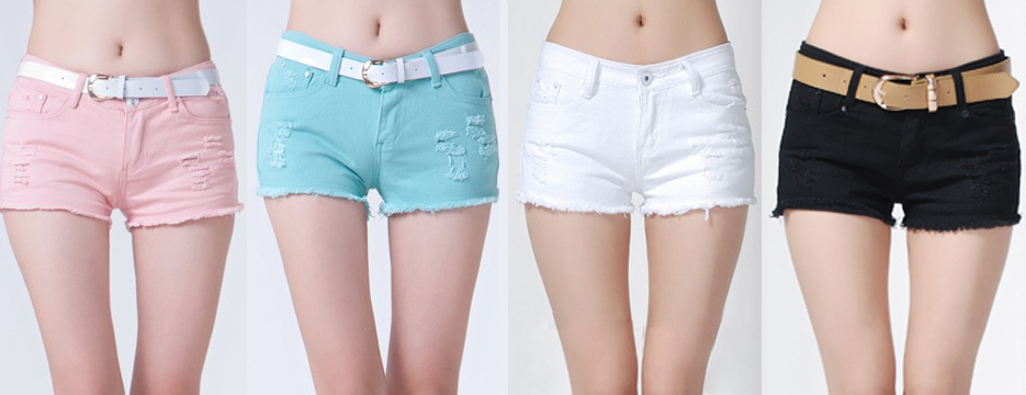 2013 New arrival Fashion 100% cotton Women's Summer Denim Wahsed Destroyed hot shorts Black White Pink Sky Blue Size 25 31-in Shorts from Apparel & Accessories on Aliexpress.com