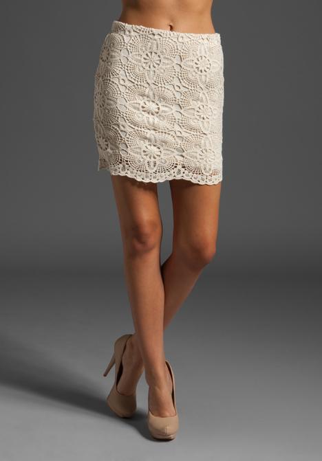 Jack by bb dakota selah crochet lace skirt in sand shell cream at revolve clothing