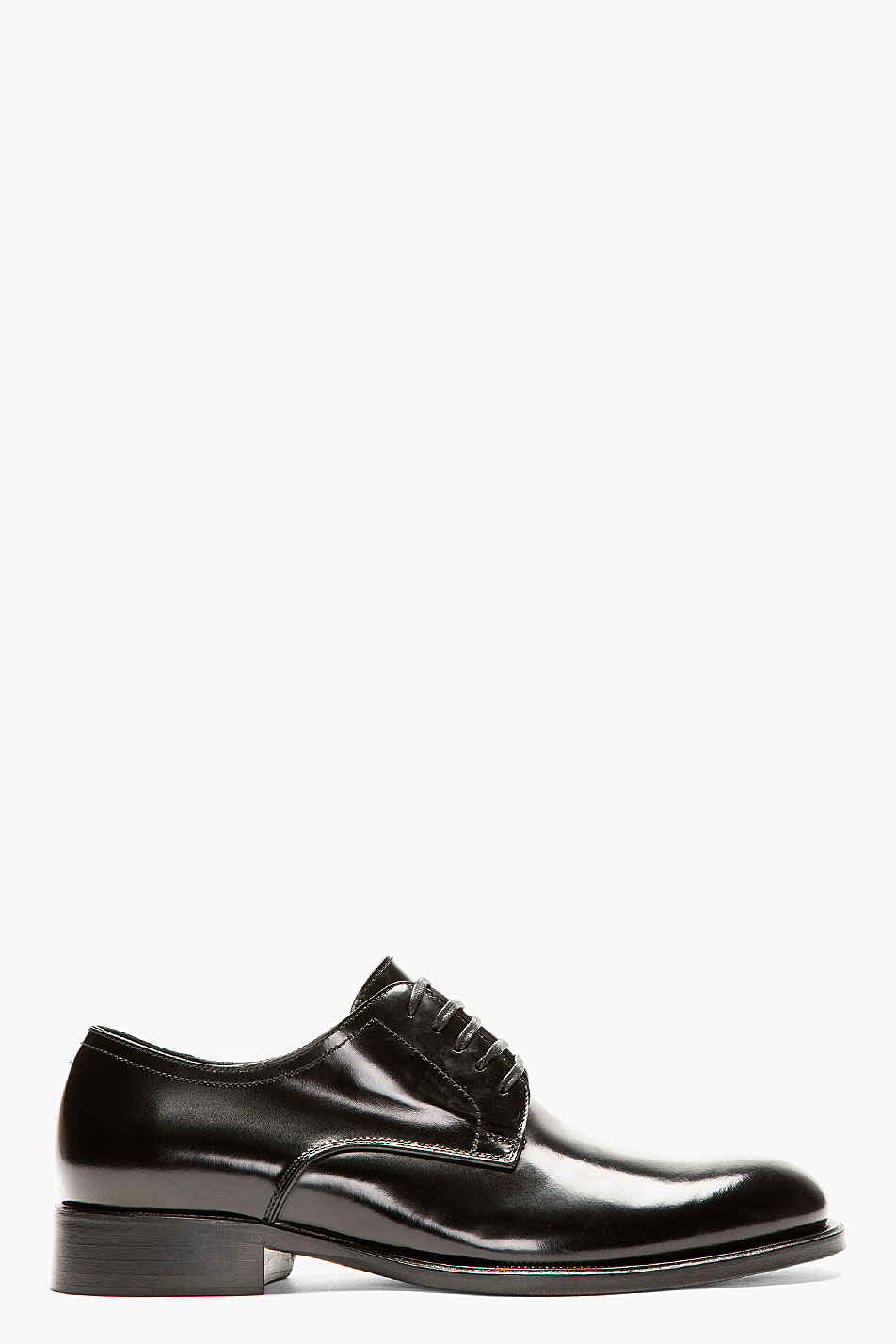 Dsquared2 black buffed leather classic derbys