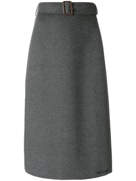 'S Max Mara skirt midi skirt women midi wool grey