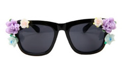 Gardenia Baroque Sunglasses- Black – Glamzelle