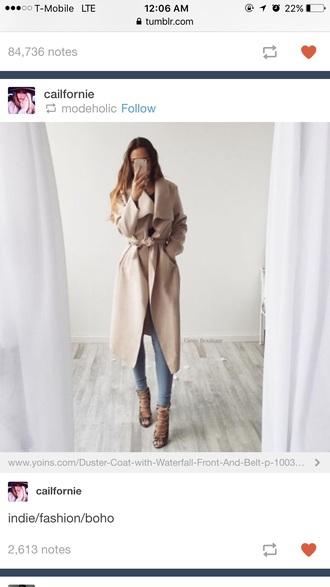 coat brown long coat