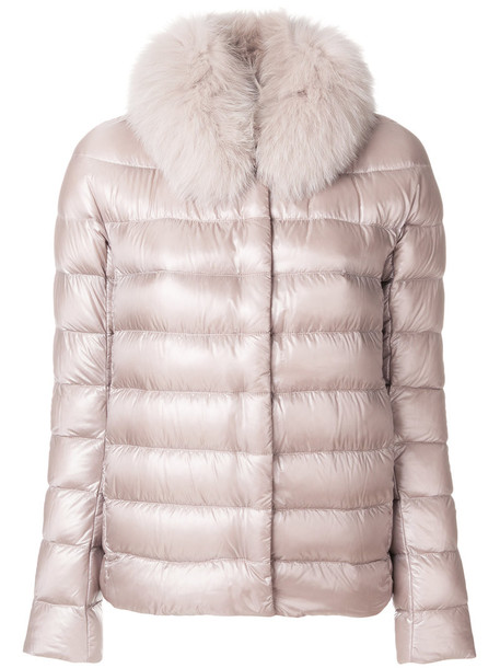 Herno jacket fur women nude cotton