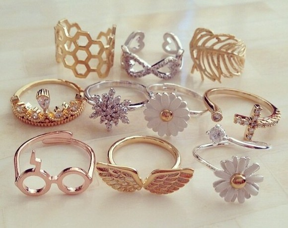 jewels ring hot girls thing gold golden rings ring silver rings gold jewelry swag