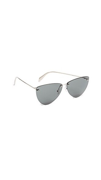 butterfly sunglasses silver grey