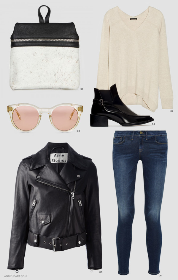 andy heart sweater sunglasses shoes jacket jeans