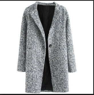 coat wool gray grey gray wool coat grey wool coat