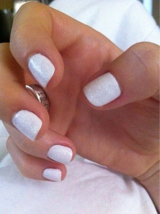 nail polish white nails white nails sparkle sparkley