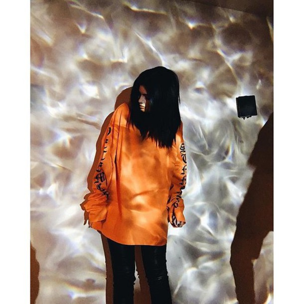 2e093dd6f2a7 sweater, kylie jenner, the life of pablo, orange, oversized sweater ...