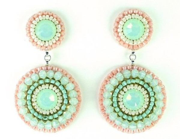 jewels mint coral earings